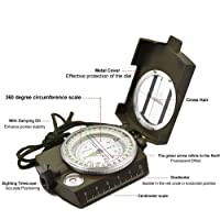 Royals Professional Multifunction Military Army Metal Sighting Compass High Accuracy Waterproof Compass