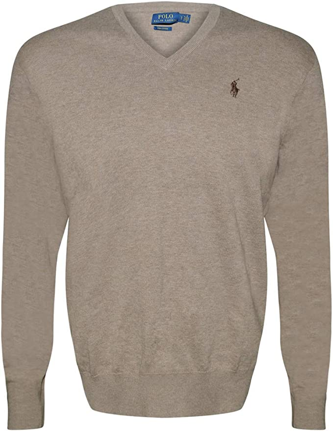 Polo Ralph Lauren Green Cotton /& Cashmere V Neck Sweater Blue Polo Pony Mens NWT