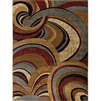 Amazon Com Richmond Contemporary Abstract Brown Rectangle