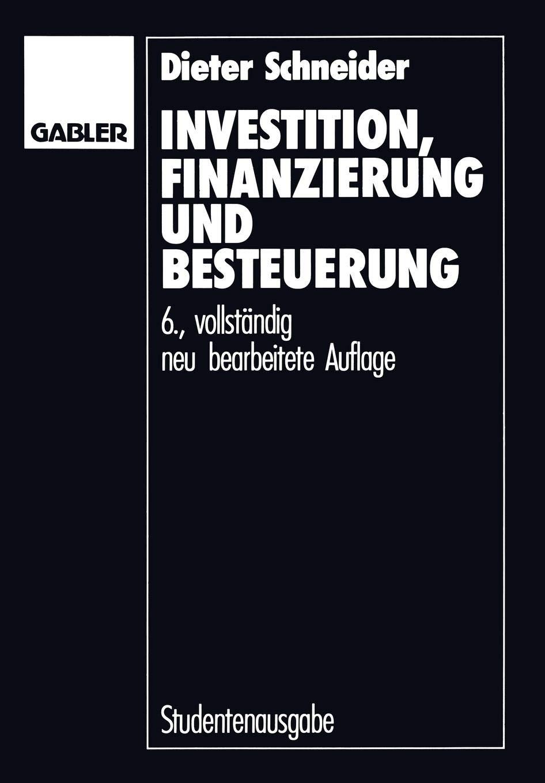 'Investition Finanzierung Und Besteuerung'