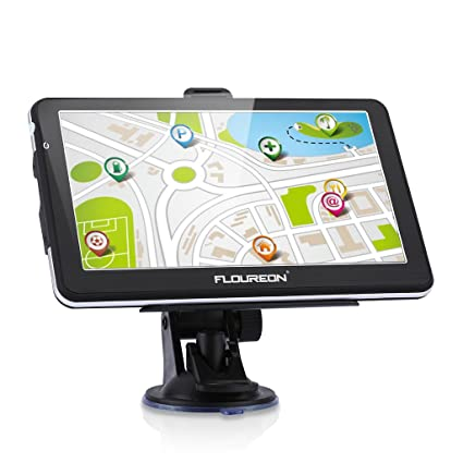 FLOUREON GPS coche recargable con pantalla táctil 7 pulgadas gran potencia batería Navigation de auto sistema ...