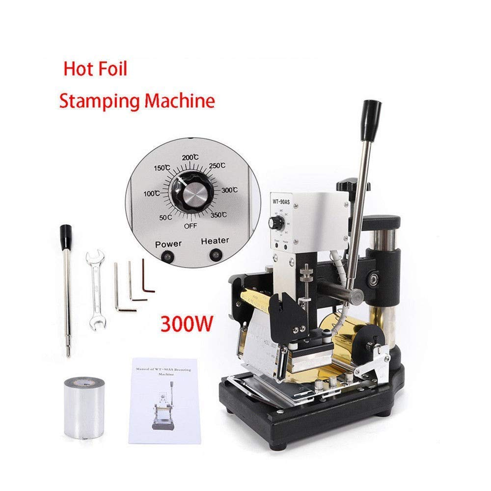 WUPYI Hot Foil Stamping Machine 6 x 9cm,Tipper Stamper Machine Embossing PVC Leather Printing Logo Bronzing Card 110V 300W by WUPYI