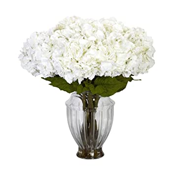 Amazon large hydrangea weuropean vase silk flower arrangement large hydrangea weuropean vase silk flower arrangement mightylinksfo