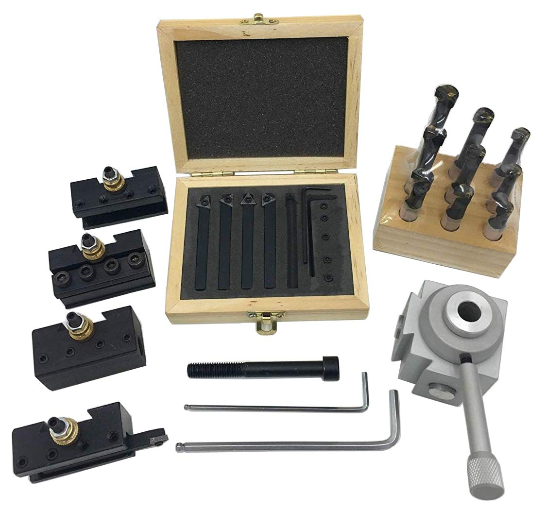 """3 Sets 1//4/"""" 3//8/"""" and 1//2/"""" shanks Indexable Carbide Tool Bit Sets C6"""