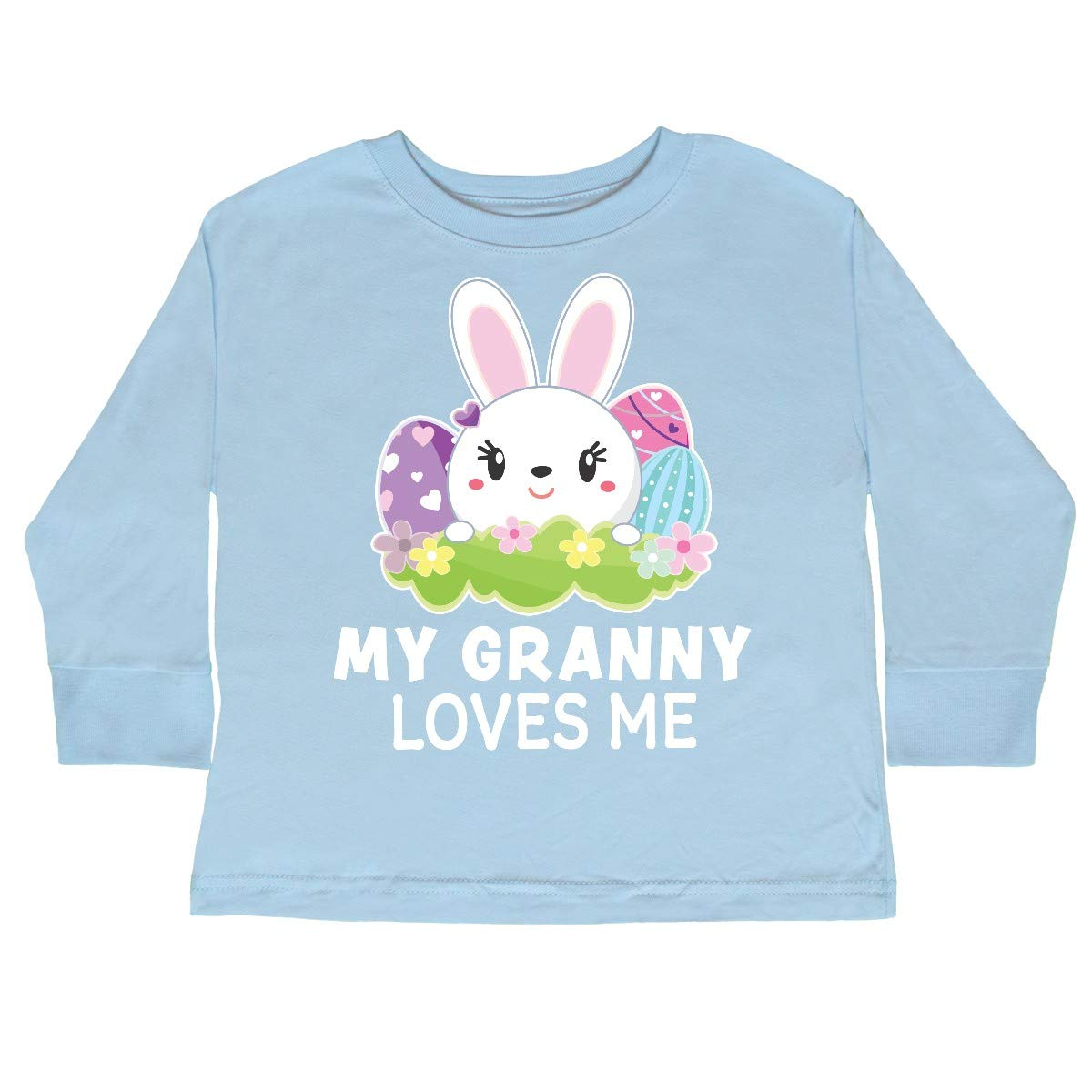 inktastic My Granny Loves Me with Bunny and Easter Toddler Long Sleeve T-Shirt