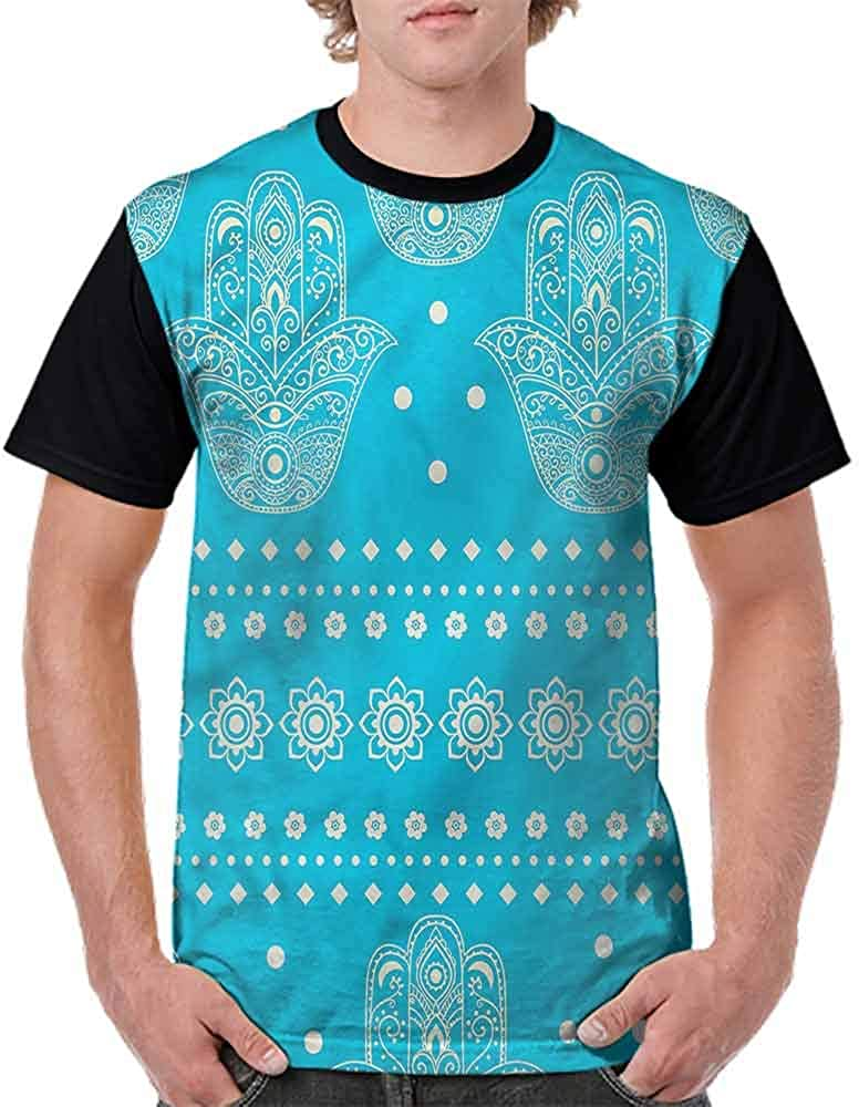 Performance T-Shirt,Eastern Cultural Floral Fashion Personality Customization