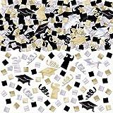 Amscan Graduation Party Confetti (1 Piece), Black/Silver/Gold, 5 oz