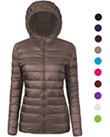 Amazon.com: Cloudy Arch Women's Lightweight Packable Hooded Down ...