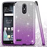 LG Stylo 3 (2017) Case, LG Stylo 3 Plus Case, Berry Luxury [Shiny Series] Bling Crystal Ultra Thin Sparkle Premium 3 Layer Hybrid Anti-Slick Soft TPU Protective Case for LG Stylo 3 - Gradient Purple