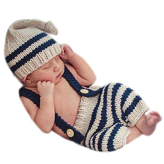 f94aac81a Binlunnu Newborn Photography Props Baby Boy Girl Outfits Infant Accessories  Clothes Toddler Costume Hat Pants