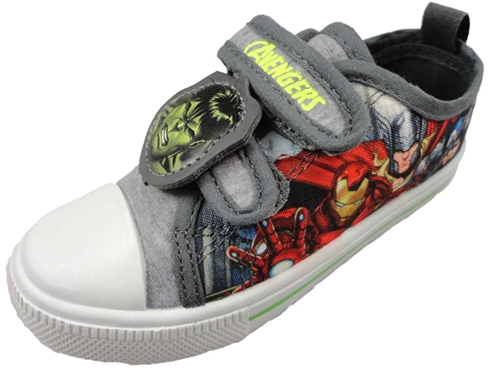 'MARVEL' Boys Avengers Summer Canvas Pump Trainer Childrens Shoes 7-1 UK