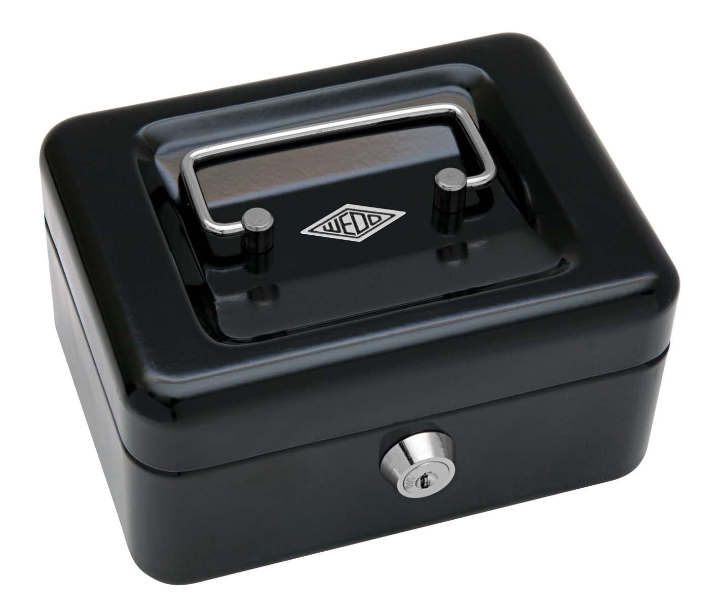 Wedo 145121H - Caja de caudales x con clip, talla 1 (15,2 x caudales 11,5 x 8 cm), negro 4407a0