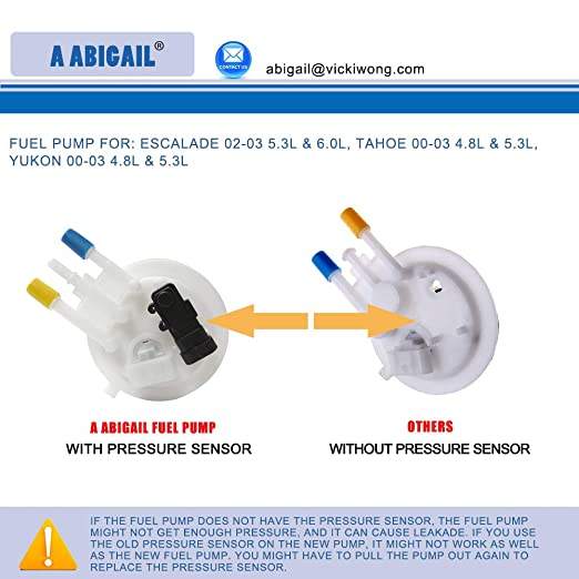 Amazon.com: Fuel Pump E3508M for Cadillac Escalade 2002 2003 5.3L & 6.0L, Chevy Tahoe 00-03 4.8L & 5.3L, GMC Yukon 00-03 4.8L & 5.3L: Automotive