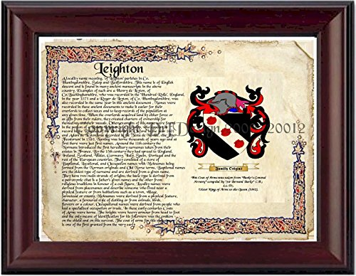 Leighton Coat of Arms/ Family Crest on Fine Paper and Family History