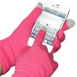 Amzer AMZ92805 Capacitive Touch Screen Knit Gloves (Pink)