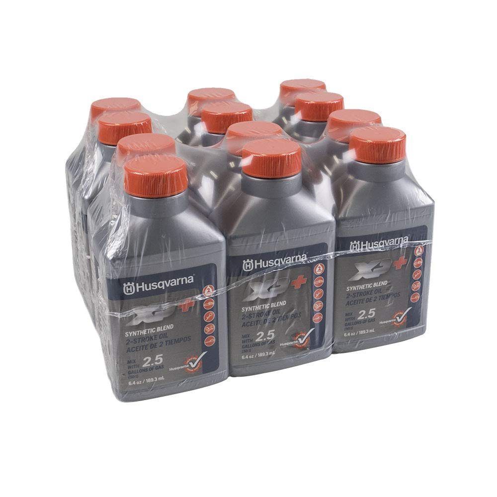 Husqvarna 12PK Genuine OEM XP 2-Cycle Oil 2.5 Gallon Mix 6.4oz 593152303 by Husqvarna