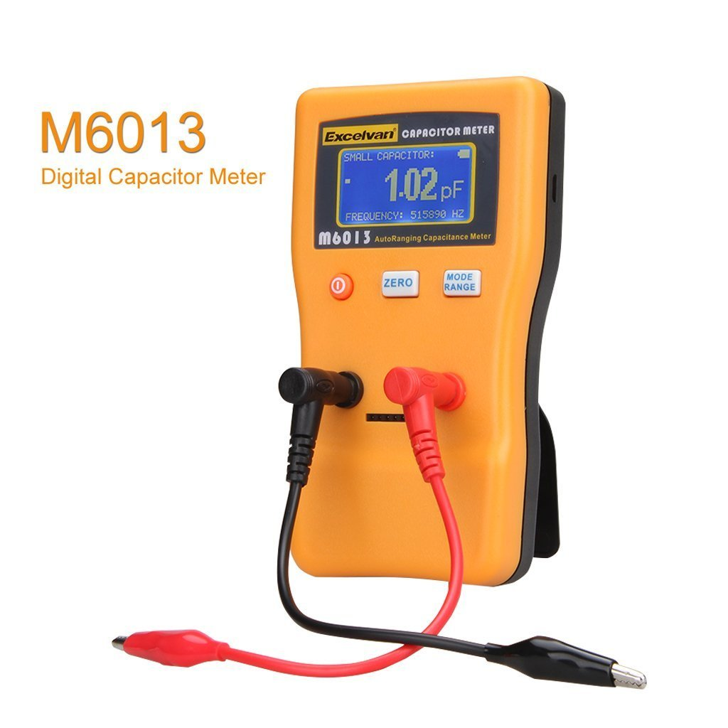 Excelvan M6013 Digital Auto Ranging Capacitance Meter Capacitor To Test The Meters Which Use A Lower Open Circuit Voltage Tester Professional 001pf 470000uf Capasitor