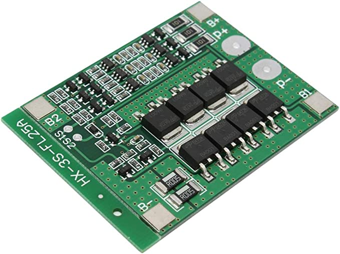 ZkeeShop 5Pcs Protection Board 3S 12V 25A Balance Lithium Battery Charger Protection BMS Board Balance Module