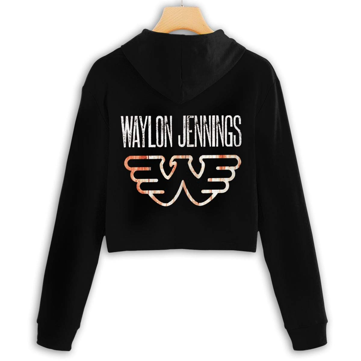 MordeNice Womens Cropped Hoodie Classic Waylon Jennings Hooded Sweater for Girls