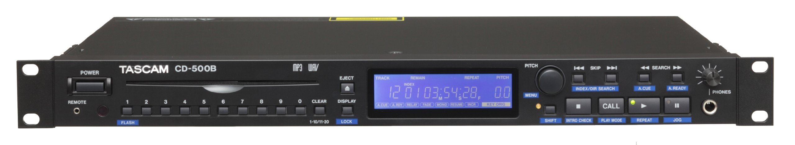 Tascam CD-500B Single Rackspace CD Player
