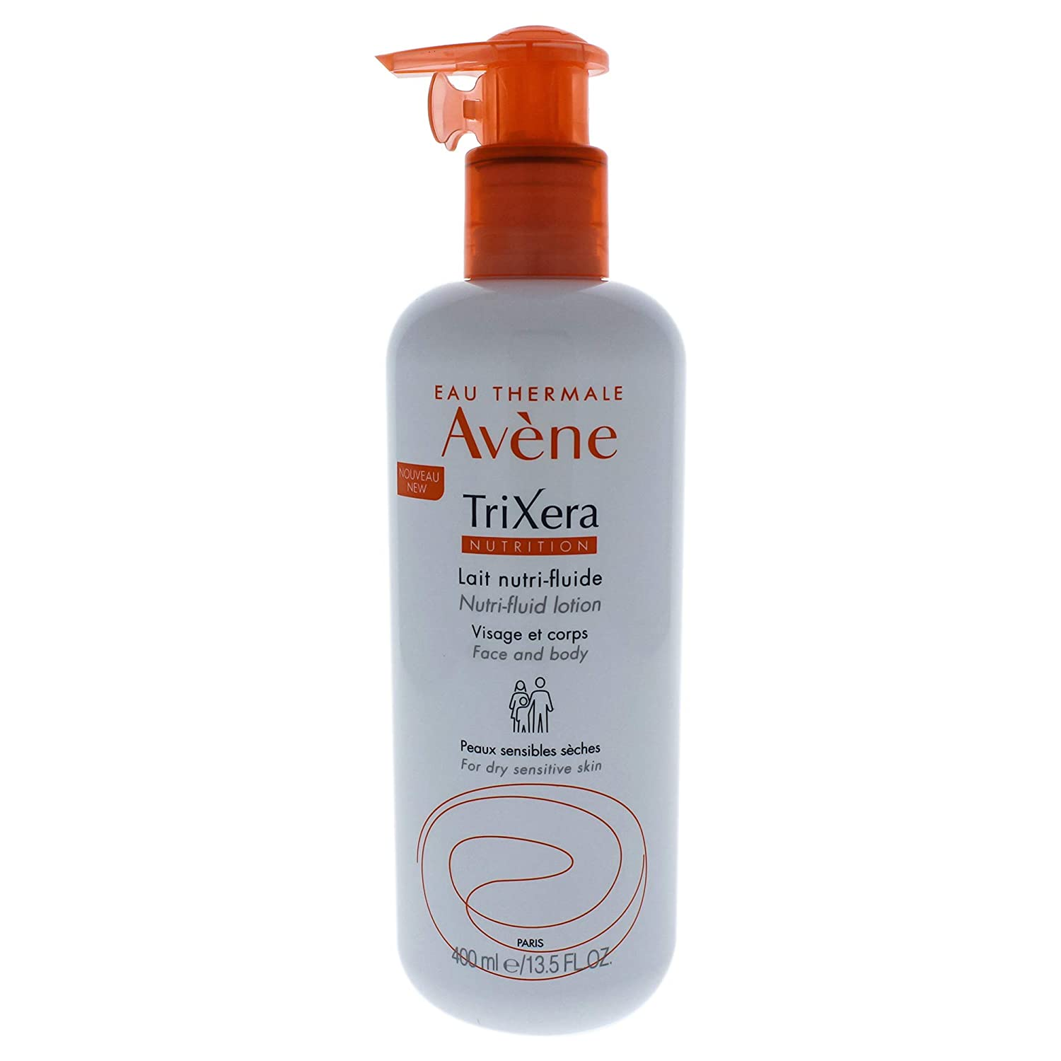Eau Thermale Avene Trixera Nutrition Nutri-Fluid Lotion, Ceramides, Dry, Face and Body