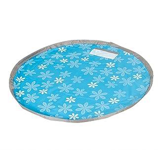 Tappetino per giochi BESTOMZ Sacco stuoia di raccolta giocattoli rapida con diametro 150 cm (Azzurro)
