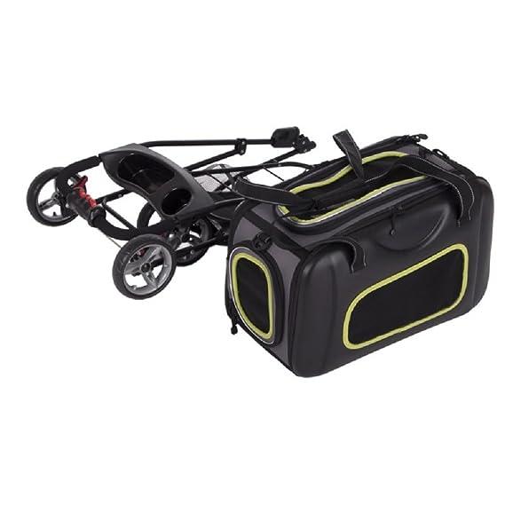 2 en 1 Pet Cochecito plegable Buggy Carrier Correa de Hombro Gatos Perros de hasta 8 kg: Amazon.es: Productos para mascotas