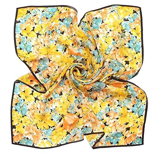 (구란쿠레에) Grancreer 일본제(MADE IN JAPAN) 실크100% 스카프 (A-꽃무늬 시리즈) [MADE IN JAPAN]