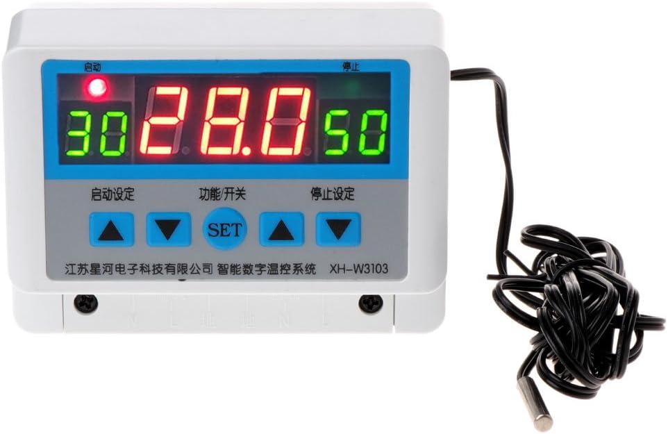 XH-W3103 Thermostat num/érique de contr/ôle de temp/érature AC 220 V 30 A 6600 W