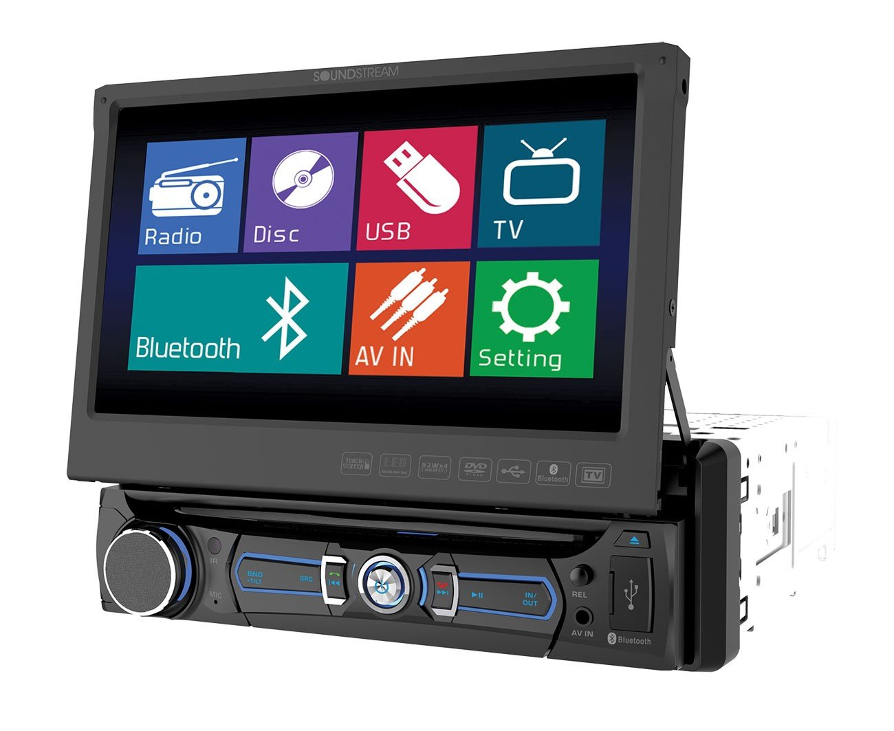 Amazon.com: Soundstream VR-701 In-Dash Single-Din Car Stereo DVD Player  with 7-Inch LCD Display: Car Electronics