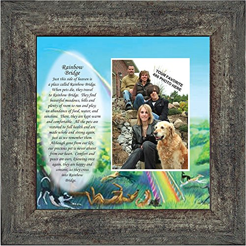 Personally Yours Rainbow Bridge, Loss of a Pet, Memorial Frame, 10x10 6766BW by Personally Yours