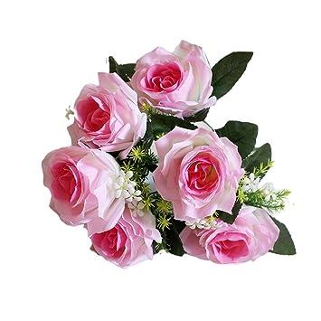 Upxiang 7 Kopfe Kunstliche Gefalschte Rosen Blumen Unechte Blumen