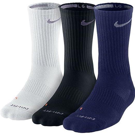 96f94b7861f62 Amazon.com: Nike Unisex Dry Cushion Crew Training Sock (3 Pair ...