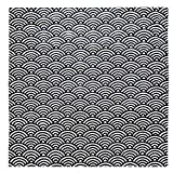 EKT-J Polite Japanese Style Wrapping Cloth FUROSIKI Blue Ocean Wave Pattern [3030 inch]