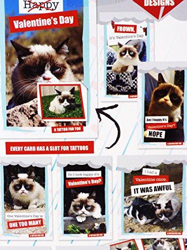 Amazoncom  32 Grumpy Cat Valentine Classroom Sharing Cards with