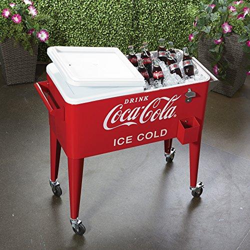 80 Quart Rolling Retro Coca Cola Cooler product image
