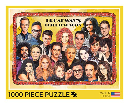 Broadway Puzzle - 1000 Piece Broadway Puzzle Featuring Watercolor Portraits of 20 Broadway ()