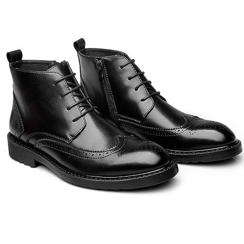 Botines para Hombre De Cuero Genuino con Cordones Martin Boots Bullock Chukka Boots Zapatos Ocasionales De Negocios: Amazon.es: Zapatos y complementos