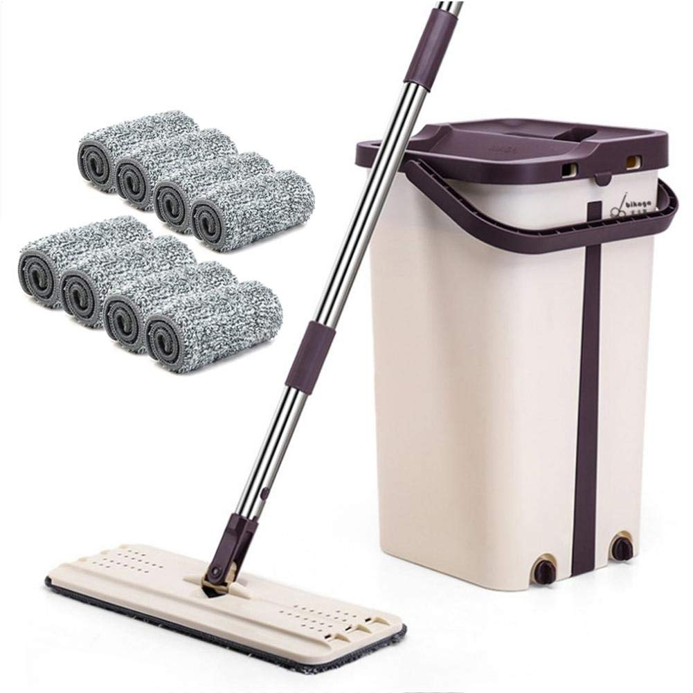 Convenient Washing-Free Retractable Flat Mop for Bathroom, Professional Mops, Kitchen,Washing Room, Living Room, Wall, Tile and Hardwood Floor by win-full