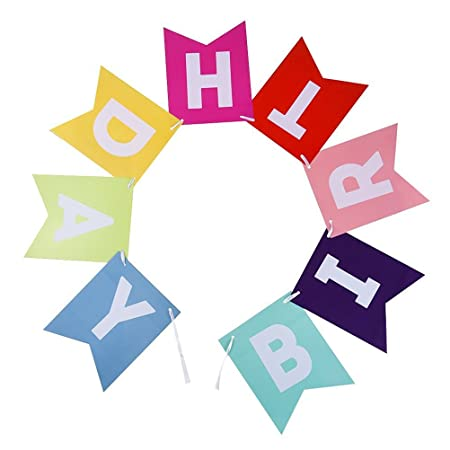 Pixnor Colorful Happy Birthday Bunting Banner Decorations Amazoncouk DIY Tools