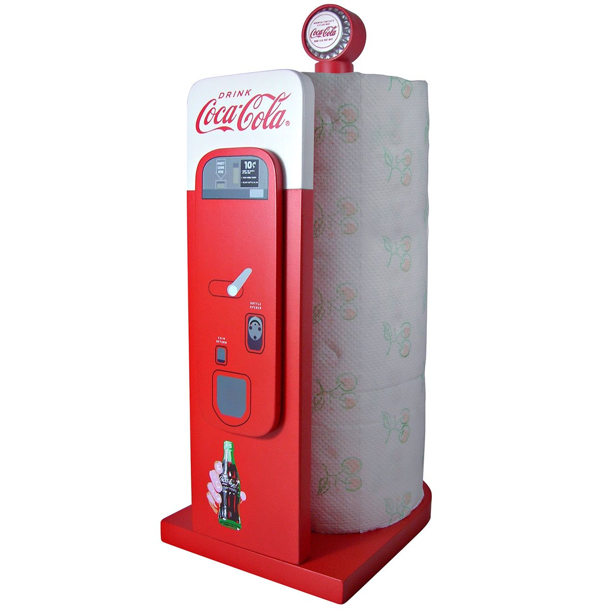 Coca-Cola Vending Machine: Kitchen Collectible Paper Towel Holder
