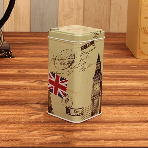 EFGDKN Iron Tea Coffee Organizer Retro Caja de Almacenamiento ...