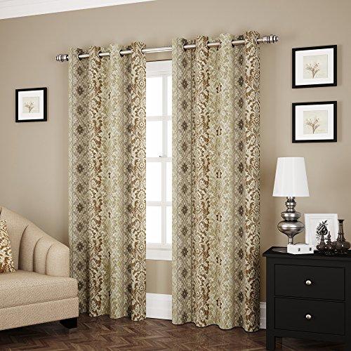 Eclipse Shayla Room Darkening Window Curtain Panel, 52 by 63″, Neutral