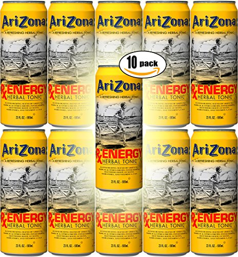 Arizona Tea RX Energy Herbal Tonic, 23 Oz Cans (Pack of 10, Total of 230 Oz)