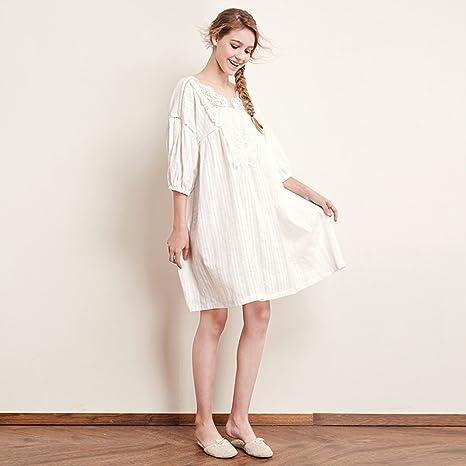 miglior sito web cbccc ba849 Xi Man Shop Camicia da Notte in Pizzo da Donna Pigiama Ricco ...