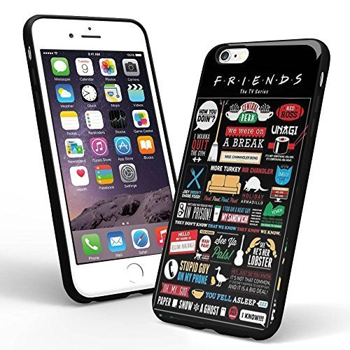 Price comparison product image Friends Tv Cover Collage for Iphone Case and Samsung Case (iPhone 6 black)