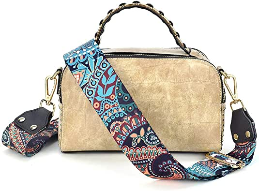 Wide Replacement Bag/Purse Crossbody Strap For Women Adjustable Jacquard Woven Guitar Strap Banjo Strap Style