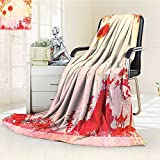 Digital Printing Blanket Asian With And Pagoda Temple Spirituality Meditation Summer Quilt Comforter
