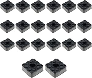 Rannb Square Furniture Pads Floor Surface Protection Non Slip Feet Pads - 20pcs