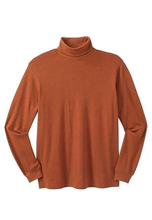 e25ab9e53571 Amazon.com  KingSize Men s Big   Tall Turtleneck Long-Sleeve Cotton ...